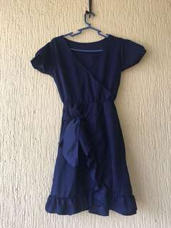 Overlap Ruffled Dress