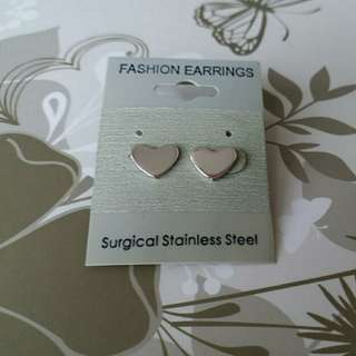 手術鋼心心耳環Surgical Stainless Steel Earrings