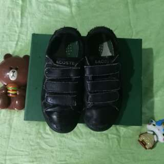 Lacoste kids Black shoes sneakers 10c