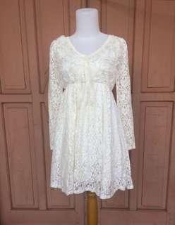 BROKAT WHITE DRESS