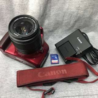 Canon eos 1100d Red Edition with 18-55mm kit (2ndhand)