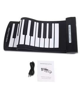 Flexible Roll-Up Piano USB MIDI Electronic Keyboard