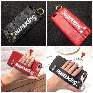 Casing Leather Strap SUPREME Case For iPhone