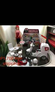 Jenny doll & pizza-la playset free shipping