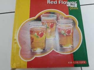 Gelas red flower