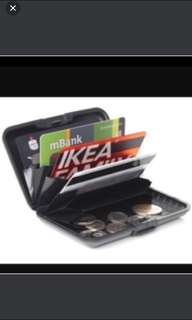 Credit card black wallet)