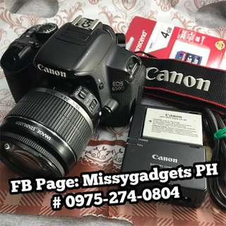 Canon eos 650d DSLR with 18-55mm kit and accessories (2ndhand)
