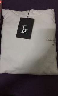 Beaming Effect White Hoodie (official)