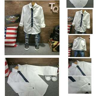 BBU38183 Smart Kids White Shirt