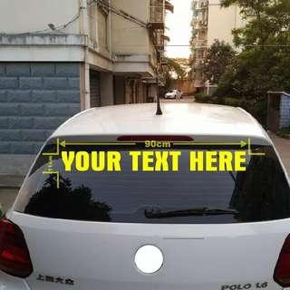 High Quality Reflective  Personalized Custom Car Sticker Waterproof Car Stickers And Vinyl Decals