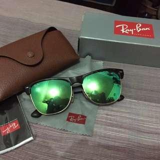 ORIGINAL Rayban Clubmaster Flash Lense Green