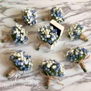 Peony Wedding: 兄弟襟花/ 婚禮襟花 [訂造款] Like facebook 9折。