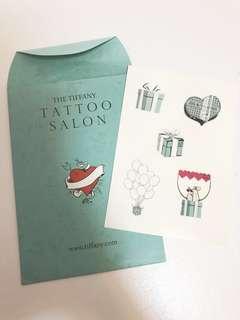 Tiffany 紋身印水紙 tattoo 耳環 鏈