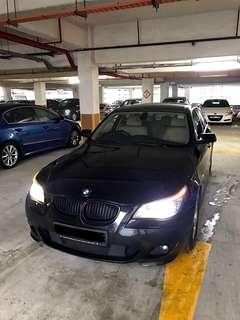 BMW 520i XL 2.0A Black For Rent (Grab Friendly)