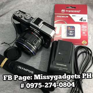 Olympus E-PL1 mirrorless with 14-42mm kit and accessories (2ndhand)