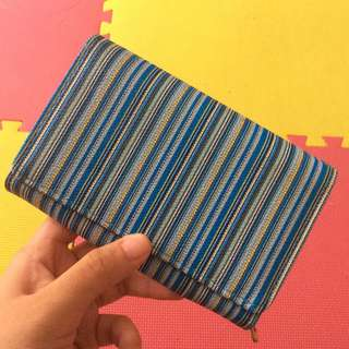 Blue Stripped wallet