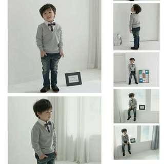 BBAA29395 Smart Classic Style Kids Shirt