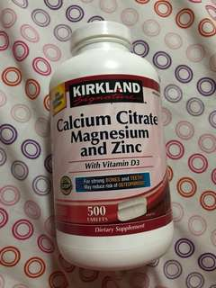 Kirkland Calcium Citrate Magnesium and Zinc