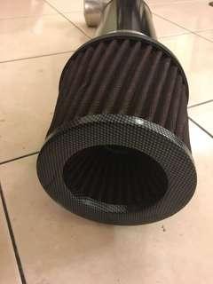 Open pod air filter