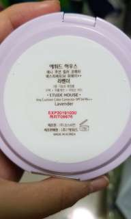 Etude house color correcting cushion (LAVENDER)