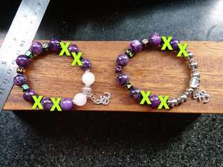 Alzheimer - Care for Elderly - Lovely Lepidolite Bracelets with Contact No