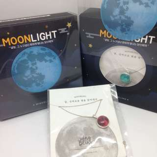 Authentic wingbling glow in the dark moon (blue and red)