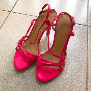 Nine West Fluorescent Pink High Heels heeled shoes