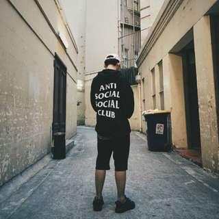 🚚 Anti social social club美國正品黑白帽T