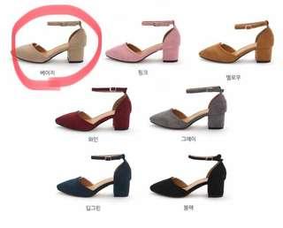 🈚️蝦皮🈚️換貨 全新 韓國🇰🇷代購商品 毛呢包頭跟涼鞋