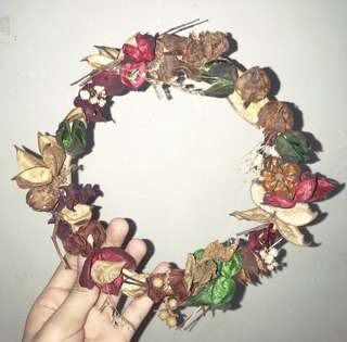 手作🌺乾燥花圈