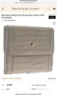 Mont Blanc Women Croc 6cc in beige (AUTHENTIC)
