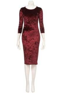 Topshop Velvet Bodycon Dress