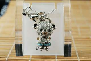 Crossfor Teddy Bear Crystal Necklace Angel Teddy Bear