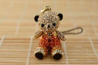 Crossfor Teddy Bear Crystal Necklace