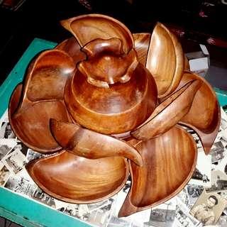 Set hidangan kayu