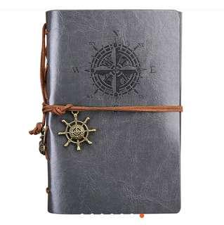 Exquisite Gray Anchor & Wheel Journal Notebook