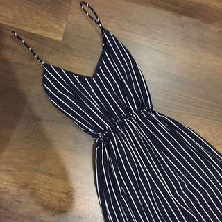 Stripped Navy White Jumpsuit