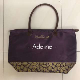 Purple cooler bag