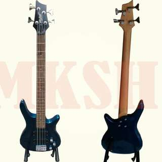 Global B1 Bass Guitar 4 String ( BLUE ) with Bag