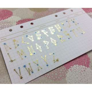 Alphabet stickers 英文字母貼紙