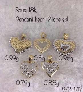 18K Heart Pendant