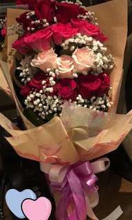 Roses bouquet with delivery