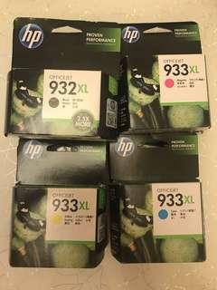 原廠 成set 墨盒 HP 932XL Black 933XL Magenta Yellow Cyan