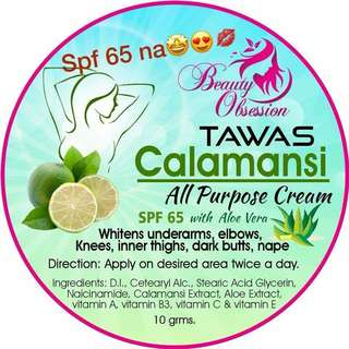 Tawas Calamansi All purpose cream NOW WITH SPF65!