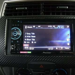 Pioneer - Double-DIN DVD Multimedia AV Receiver with 5.8 Widescreen Touch Display, and USB Direct Control for iPod/ iPhone