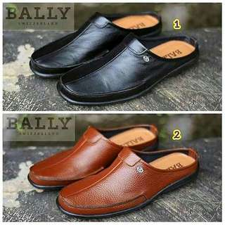 Sepatu sandal bally original ori kulit asli pria cowok terbaru 2018 murah branded hitam coklat