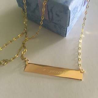 18K|21K Customized Name Necklace