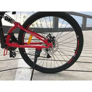 Forever Folding Bike - Black and Red, Best foldable mountain bicycle