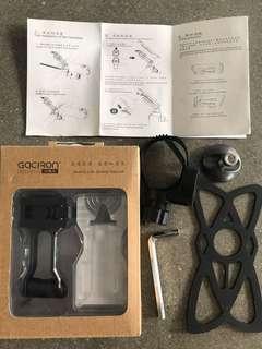 Phone holder for stem or handlebar