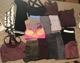 Lululemon size 2 and 4 closet clean out